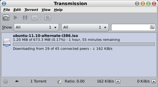 Transmission BitTorrent client