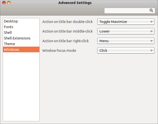 Gnome Advanced Settings 1