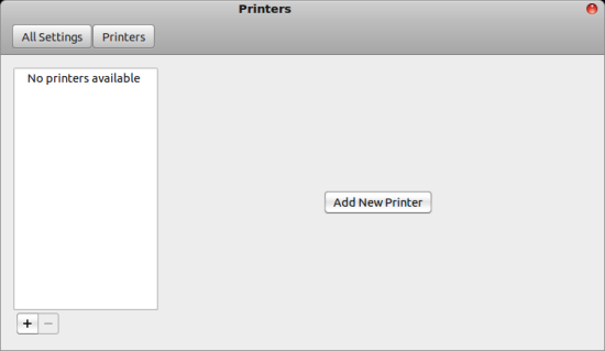 Gnome add new printer