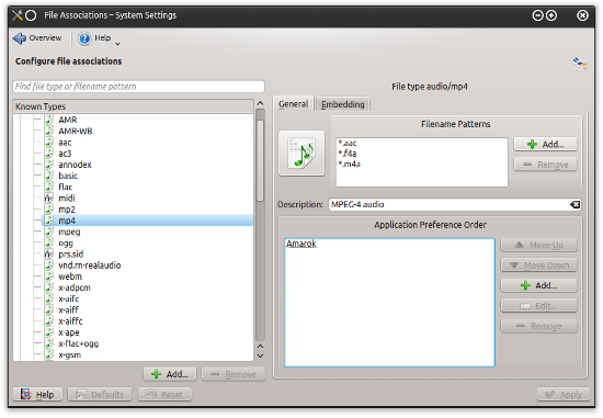 KDE file association configuration