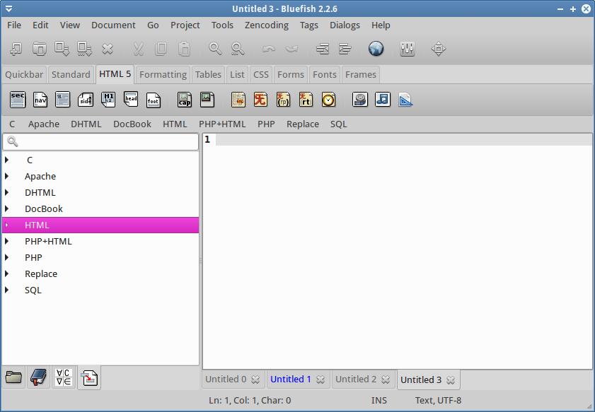 HTML5 menu