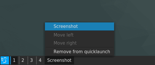 Quicklaunch shortcuts